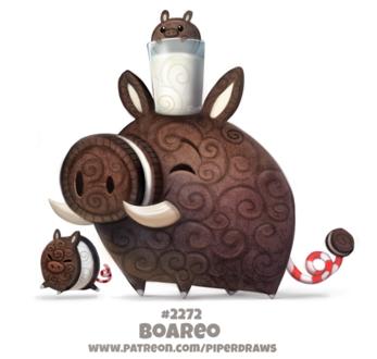 Фото Кабанчики-печеньки и молоко в стакане (Boareo), by Cryptid-Creations