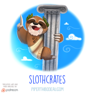 Фото Ленивец в одеждах на колонне (Slothcrates), by Cryptid-Creations
