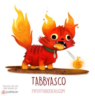 Фото Огненный кот отрыгивает огненные комочки (Tabbyasco), by Cryptid-Creations
