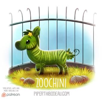 Фото Зеленая зебра в клетке (Zoochini), by Cryptid-Creations