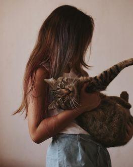 Фото Девушка с кошкой на руках, by anamarkovych