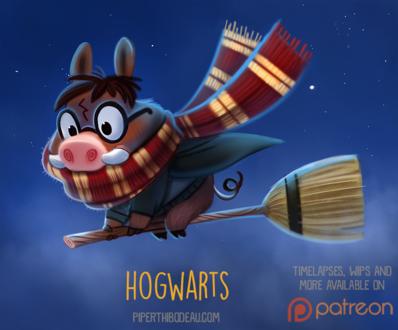 Фото Свинья-бородавочник в образе Harry Potter / Гарри Поттер из одноименного фильма (Hog-Warts), by Cryptid-Creations