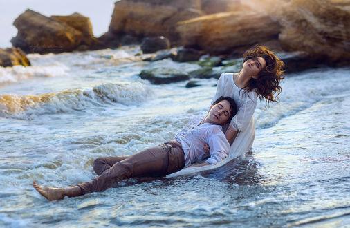 Фото Парень с девушкой на побережье, фотограф Ирина Джуль