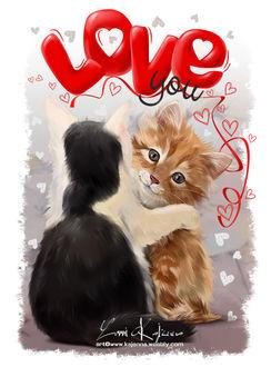 Фото Два котенка обнимаются, by Kajenna (Love you)