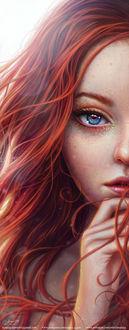 Фото Голубоглазая девушка с длинными волосами, by Isaque P. G