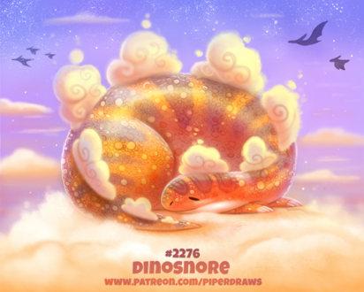 Фото Спящий динозаврик на облаках (Dinosnore), by Cryptid-Creations