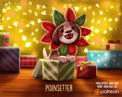 Фото Песик-цветочек из подарка (Poinsettier), by Cryptid-Creations
