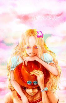 Фото Портгас Д. Эйс / Ace Portgas D. и Нами / Namiиз аниме Ван Пис / One Piece