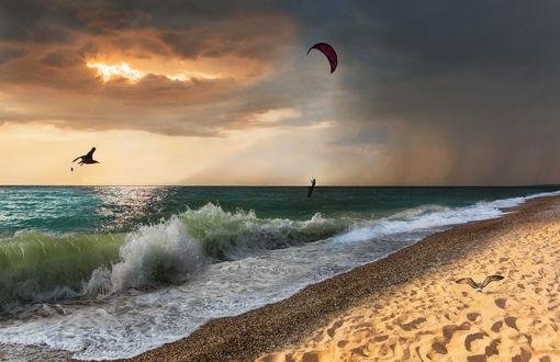 Фото Парень парит над морем, фотограф Alissarosa