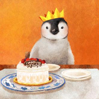Фото Пингвинчик празднует день рождения, by nao