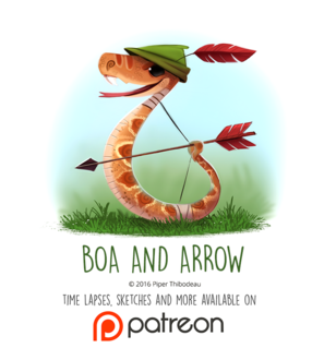 Фото Змея в образе Робена Гуда (Boa and Arrow), by Cryptid-Creations