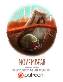 Фото Спящий медведь под землей и пеньком (Novembear), by Cryptid-Creations