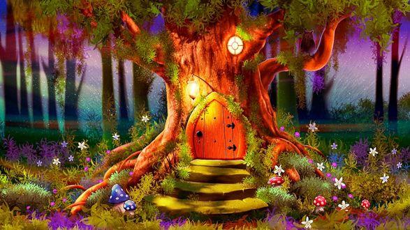 Фото Сказочный домик в лесу