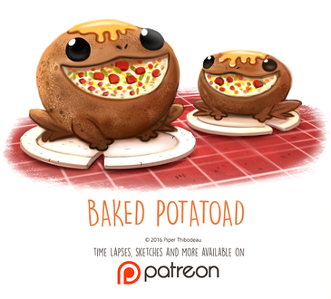 Фото Съедобные лягушки (Baked Potatoad), by Cryptid-Creations
