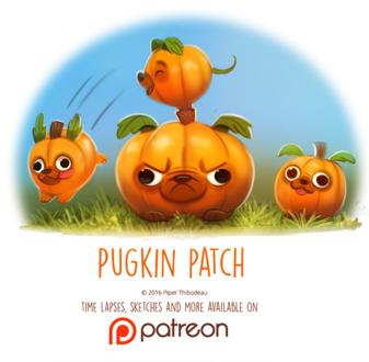 Фото Тыквенные мопсики (Pugkin Patch), by Cryptid-Creations