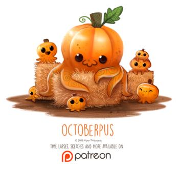 Фото Тыквенные осьминожки (Octoberpus), by Cryptid-Creations