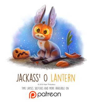 Фото Ослик с тыквенной головой (Jackass O Lantern), by Cryptid-Creations