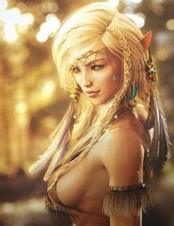 Фото Портрет эльфийской девушки, by shibashake