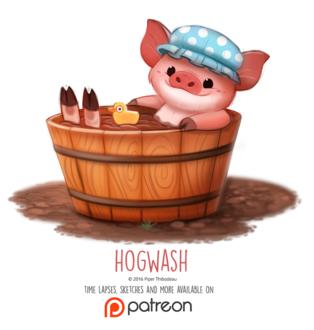 Фото Свинка принимает грязевую ванну с уточкой (Hogwash), by Cryptid-Creations