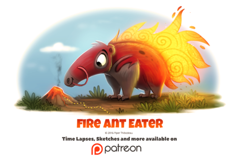 Фото Огненный муравьед (Fire Ant Eater), by Cryptid-Creations