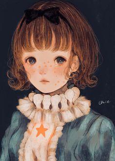 Фото Девочка с бантом в волосах и со слезами на глазах