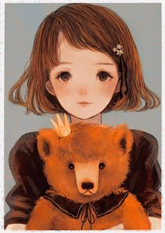 Фото Девочка с мишкой
