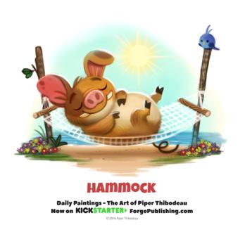 Фото Свинка на гамаке у моря (Hammock), by Cryptid-Creations
