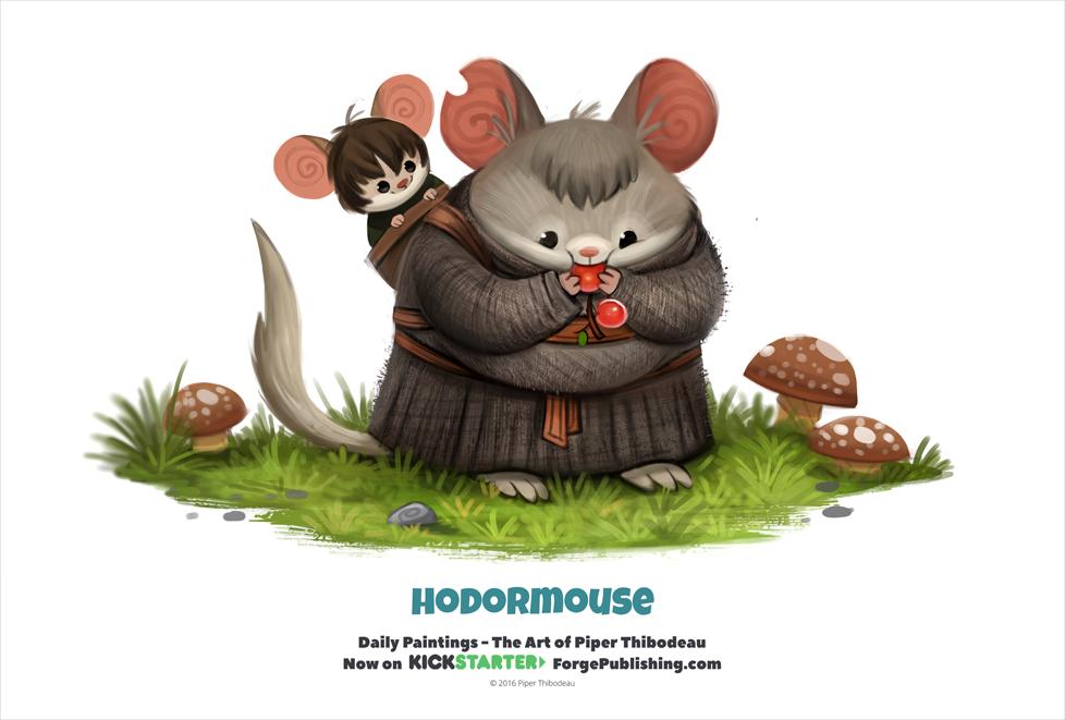 Фото Мышки в образе Brandon Stark / Бран Старк и Hodor / Ходор из сериала Game of Thrones / Игра престолов (Hodormouse), by Cryptid-Creations