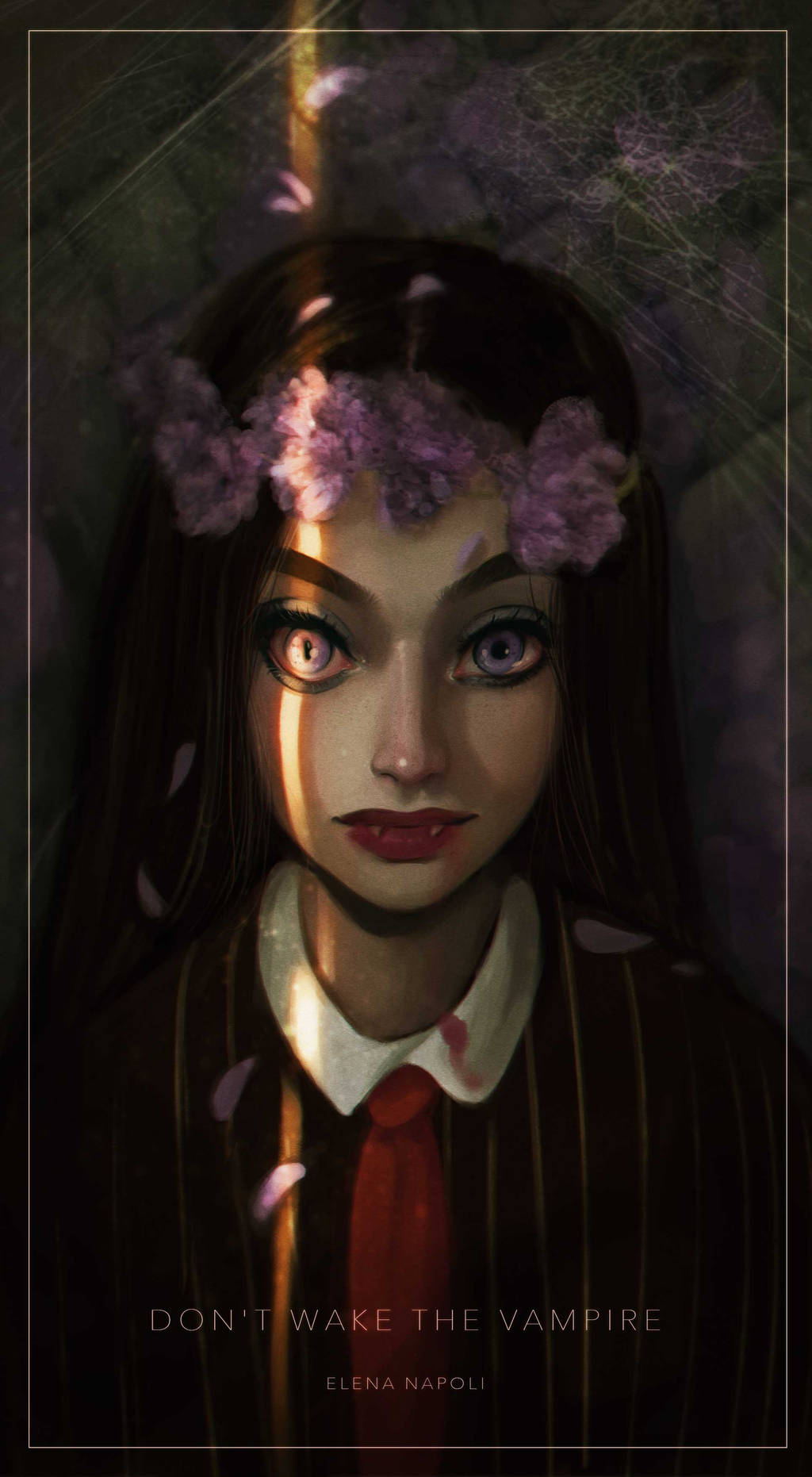 Фото На девушку-вампира падает полоска света, by Elena-El (Dont wake the vampire)
