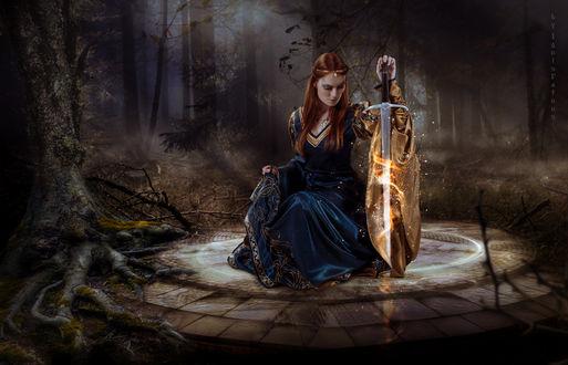 Фото Девушка с огненным мечом, by IgnisFatuusII