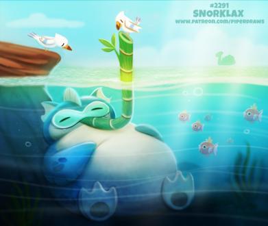 Фото Snorlax / Снорлакс из игры и аниме Pokemon / Покемон (Snorklax), by Cryptid-Creations