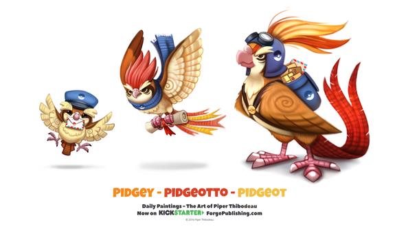 Фото Pidgeot / Пиджеот, Pidgeotto / Пиджеотто и Pidgey / Пиджи из аниме Pokemon / Покемон (Pidgey-Pidgeotto-Pidgeot), by Cryptid-Creations