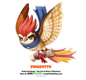 Фото Pidgeotto / Пиджеотто из аниме Pokemon / Покемон (Pidgeotto), by Cryptid-Creations