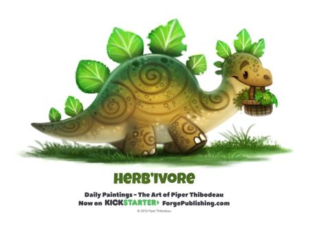 Фото Динозаврик с листьями (HerbIvore), by Cryptid-Creations