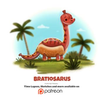 Фото Брахиозавр в образе хот-дога (Bratiosaurus), by Cryptid-Creations