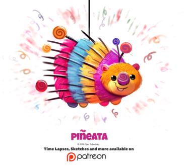 Фото Пиньята в виде дикобраза (Pineata), by Cryptid-Creations
