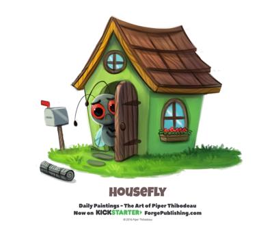 Фото Грустная зеленая мужа с домика (Fly House), by Cryptid-Creations