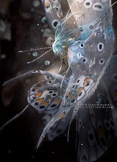 Фото Девушка-бабочка с украшением, by Oyasumi Sumika