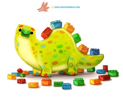 Фото Динозаврик из лего, by Cryptid-Creations