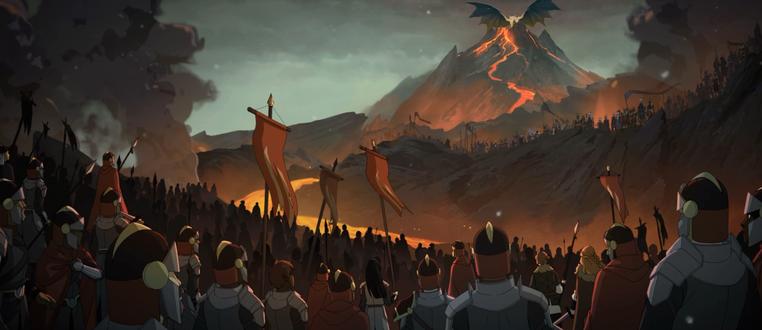 Фото Армия людей смотрят на врага короля дракона / The Dragon Prince