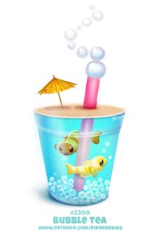 Фото Напиток с рыбками внутри (Bubble Tea), by Cryptid-Creations