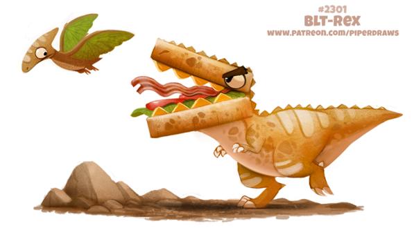 Фото Съедобный Тираннозавр и Птерозавры (BLT-Rex), by Cryptid-Creations