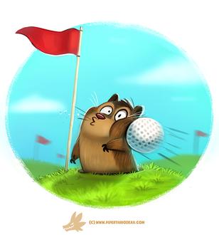 Фото Мяч от гольфа бет в щеку хомяка, by Cryptid-Creations