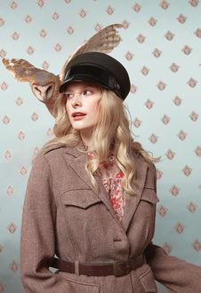 Фото Милая девушка в кепке с совой. Фотограф Ilona D. Veresk