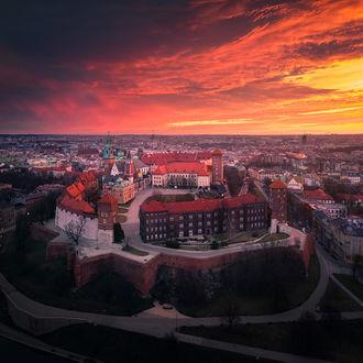 Фото Wawel Castle, Krakоw, Poland / замок утром, Краков, Польша, фотограф Karol Nienartowicz