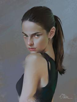 Фото Красивая девушка склонила голову к плечу, by Ollim Mar