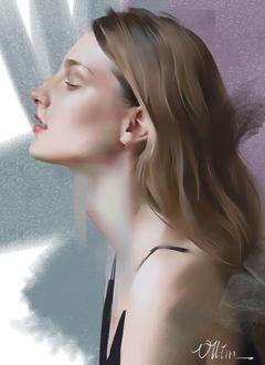 Фото Девушка в профиль, by Ollim Mar