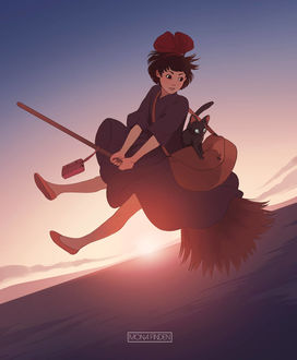 Фото Кики / Kiki из аниме Ведьмина служба доставки / Kiki's Delivery Service, by Monanu