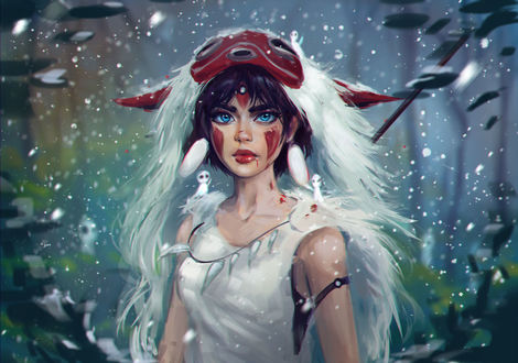 Фото Princess Mononoke / Принцесса Мононокэ из аниме Princess Mononoke / Принцесса Мононоке / Mononoke Hime, by IndiCreates