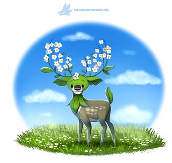 Фото Олень с цветочными рогами, by Cryptid-Creations